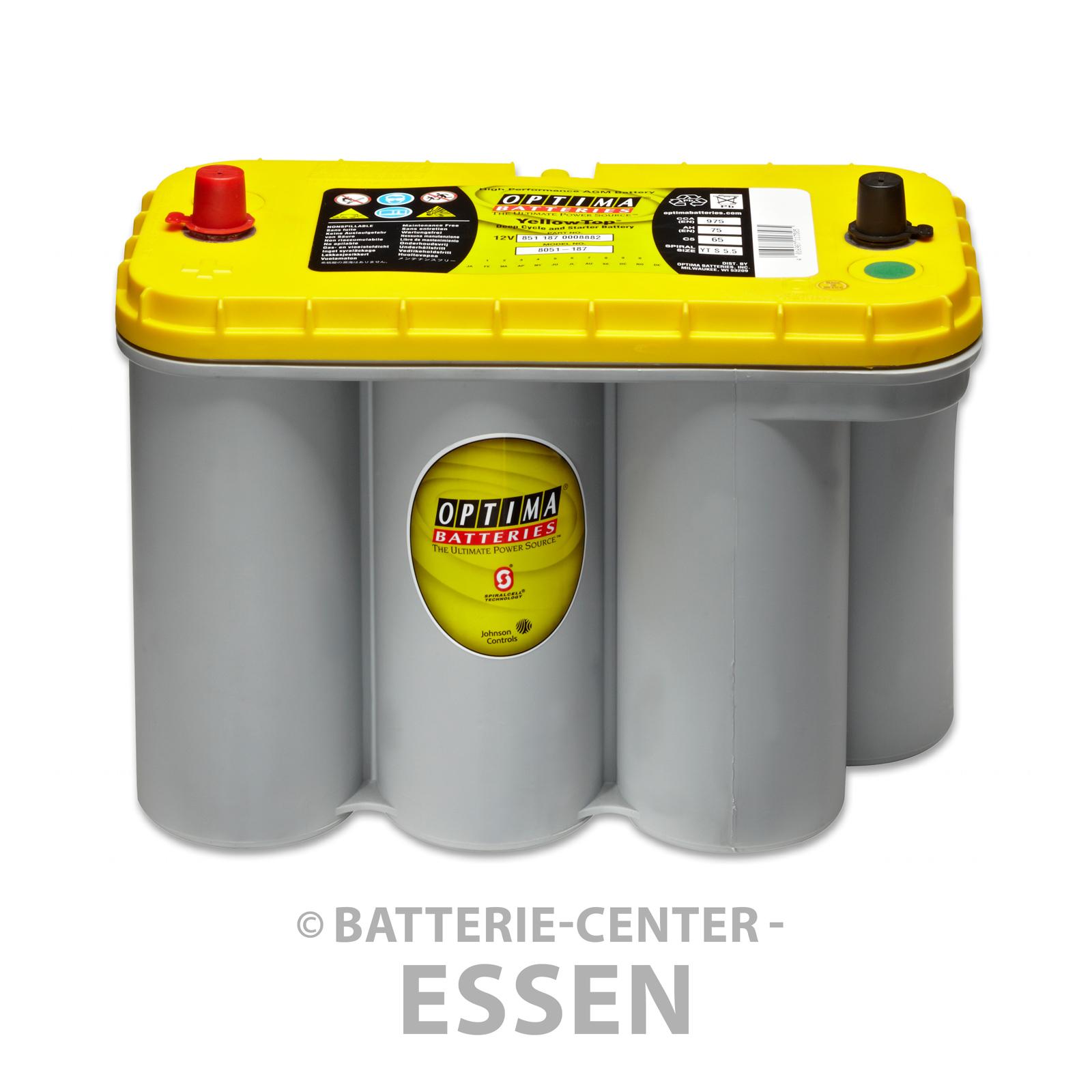 mover optima batterie yt s 5 5 12 v 75 ah yellow top wohnwagen ebay. Black Bedroom Furniture Sets. Home Design Ideas